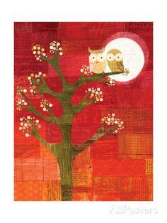 Seasons - Owl Love Giclee Print