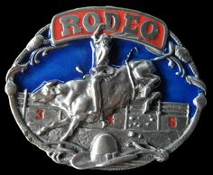 RODEO COWBOY BULL RIDER WESTERN BELT BUCKLE Men's Accessories, Cowboy And Cowgirl, Cowboy Boots, Rodeo Belt Buckles, Boot Bracelet, Country Wear, Bull Riders, Cowboys And Indians, Western Belts