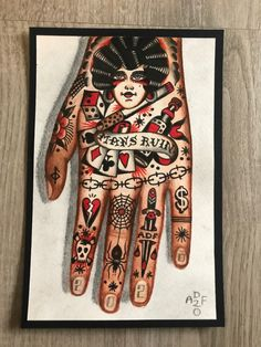 Traditional Hand Tattoo, Traditional Sleeve, Tattoo Sleeve Designs, Sleeve Tattoos, Hand Tattoos For Guys, Cool Tats, Male Hands, American Traditional, Body Tattoos