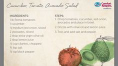 We love this Cucumber, Tomato, Avocado Salad!  With fresh ingredients and the perfect dressing, it'll become a quick favorite!