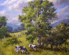 Andrew Orr Artist | Grazing in Washington County, New York by Andrew Orr Oil ~ 16 x 20