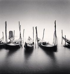 Michael Kenna Six Gondolas, Giardini ex Reali, Venice, Italy, 1980