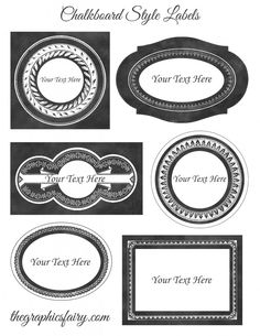 Chalkboard Style Printable Labels - Editable! So cool! You can customize the text right in the PDF!!