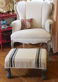 paint on fabric ottoman