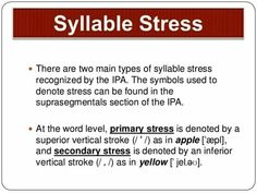 Syllable, Ipa, Stress, English, Words, English Language, Anxiety, England