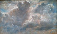 John Constable, 1776 - 1837  Cloud Study, 1822    Oil on paper laid on canvas  via