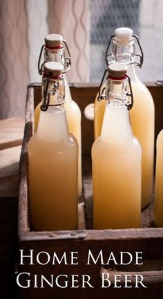 Home made Ginger Beer perfect for splashing into a craft cocktail like a Moscow Mule or Dark and Stormy!!
