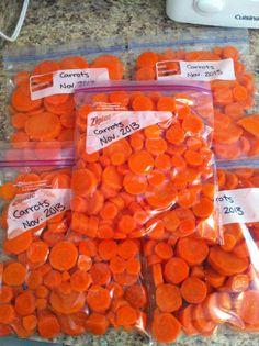 Frozen carrots are the best when you are making stew or chicken noodle soup.  I just love how you stuff them in the microwave for 3 minutes and they are warm again. Also, you can just throw it into the soup and they heat up pretty fast. It is truly the best if you grow them from your own backyard