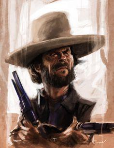 Clint Eastwood by DevonneAmos on deviantART