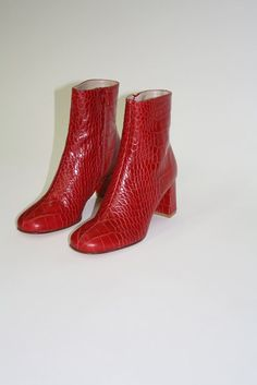MARYAM NASSIR ZADEH | Agnes Boot - Red Croc