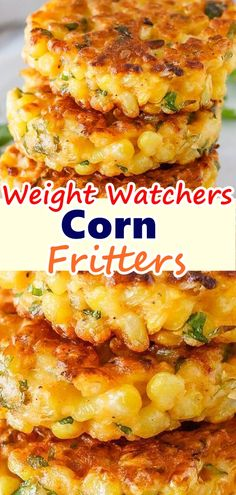 Corn Fritters – Skinny Recipes Corn Fritters Don't forget to Pin this so it will be SAVED to your timeline! Corn Fritters are the perfect way to enjoy corn! You won't be able to resist the crispy little cakes loaded with sweet golden corn … Ww Recipes, Skinny Recipes, Side Dish Recipes, Veggie Recipes, Cooking Recipes, Healthy Recipes, Weight Watcher Vegetable Recipes, Recipies, Fresh Corn Recipes