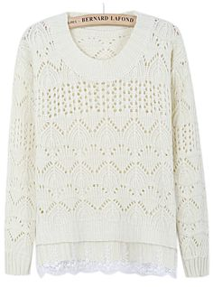 Such a lovely sweater, love the lace detail.