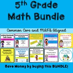 Do you want to save some money? I have combined 9 of my math products into one big MEGA bundle to helpsave you money. You willsave over 20% by purchasing this bundle instead of purchasing every product separately. This MEGA Math bundle is just what you need to assist you with your 5th Grade Math standards throughout the year!
