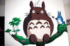 My Neighbour Totoro Mural - Painting I did for a boys room