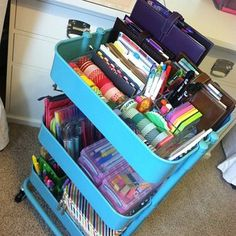 All that stuff for the Filofax. I'm jealous of this person.