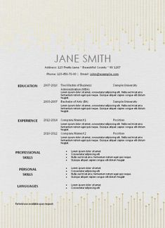 Free printable resume template that can be edited. Instant download. This resume has a textured background so you can get that luxurious look even on plain printer paper.