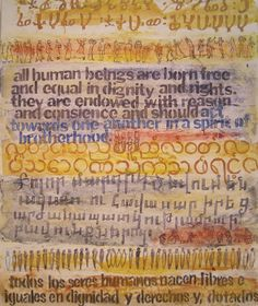 "NETHERY WYLIE "" Spirit of Brotherhood"" Pencil, pen, paper and acrylic       24 x 20 inches  If universal human rights and a spirit of brotherhood were truly embraced throughout the world, then peace could be built.    Before committing to life as an artist, Nethery Wylie was trained as a scientist, a historian, and a librarian at Duke University, University of Colorado, Colorado Springs and the University of Kentucky respectively."