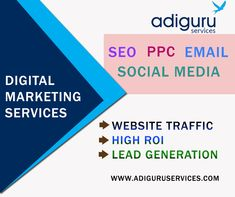 Are you looking for best digital marketing services? Adiguru services offers you the best and cost-effective digital marketing services for any kind of online business needs. Online Marketing Services, Social Media Services, Seo Services, Email Marketing, Social Media Marketing, Search Engine Optimization, Online Business, Facebook, Website