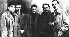 Alba (Italy) December 1956: Olmo, Simondo, Debord, Gallizio, Constant