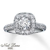 Diamond Engagement Ring 1 1/2 ct tw Round-cut 14K White Gold
