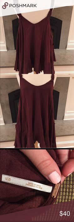 Free people maroon dress size XS Brand new free people dress never worn size XS Free People Dresses Midi