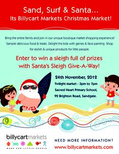 Billycart Markets Christmas Beach Twilight Market  November 24th 3pm-7pm Sandgate QLD  Our Fabulous Stall Holders
