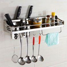 Stainless Steel kitchen rack, Kitchen Shelf, Cooking Utensil Tools Hook Rack, kitchen Holder & Storage free shipping 50cm-60cm