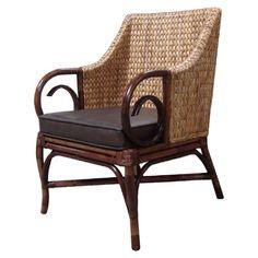 Rattan Living Arm Chair.