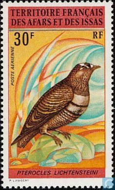 Timbres-poste - Afars et Issas - Oiseaux