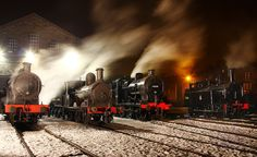 LMS Line-up In Haworth Yard. by neilh156, via Flickr