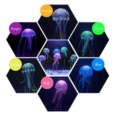 Type: Fish Material: Silicone Gel Aquatic Decorations Type: Fish Ornaments Model Number: Fake Jellyfish Weight: N.W. 9.8g/pc