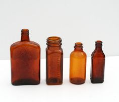 Items similar to Collection of Amber Bottles on Etsy Amber Bottles, Hot Sauce Bottles, Decorating, Unique Jewelry, Handmade Gifts, Glass, Etsy, Vintage, Decor