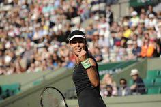 5/24/15 #RolandGarros Ana Ivanovic fights back to beat Yaroslava Shvedova 4-6, 6-2, 6-0 to advance to the 2nd rd.