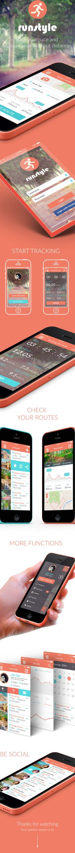 Run App UI/UX on Behance