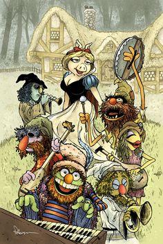 BlancaPiggy y los siete muppets