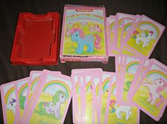 Vintage 1985 My Little Pony Vintage Card Game Waddingtons Complete