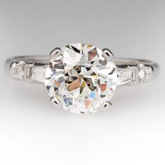 1930s Antique 2.4 Carat Old European Diamond Ring