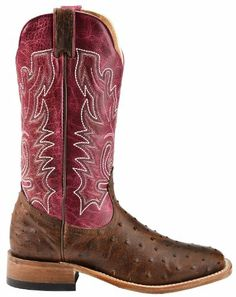 Boulet Women's Antique Full Quill Ostrich Cowgirl Boot Square Toe Antq Saddle US, Created in 1933, Boulet Boots began making their mark on cowboy boot history with attention to stylish designs, a comfortable fit, and quality products. With a rich Canadian history, extending into ar..., #Apparel, #Boots