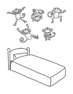 big bed pics coloring pages - photo#4