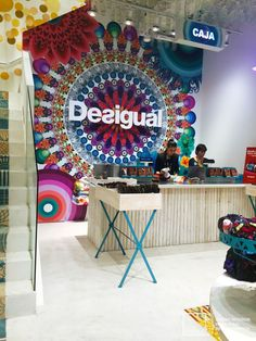 Desigual shop at Zona Rosa, Bogota, Colombia finished its floors with Microcement Edfan Blanco niebla. The design was done by Arcadia. 170 + 2 stairs were covered with microcement Edfan by Mibuti with José Galer. Frame, Projects, Design, Home Decor, Pink, Labor Positions, Tents, Appliques, Picture Frame