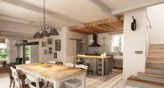 Pro anglický venkov je dřevo ještě příznačnější než pro anglický městský interiér; Freearchitects