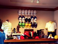Fun way to display hats at The Country Club at Castle Pines.  Knava023@gmail.com