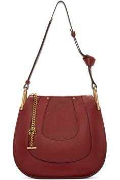 Chloé Red Leather Small Hayley Hobo Bag