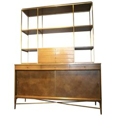 Paul McCobb  Calvin/Irwin Collection Mahogany Sideboard with Bookshelf ca.1950s