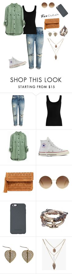 """""""Fun Clutch"""" by liveliterary ❤ liked on Polyvore featuring Twenty, Converse, LULUS, Victoria Beckham, OtterBox and Zara Taylor"""