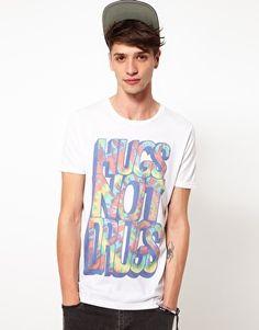 hugs not drugs tshirt