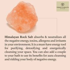 Our world is such a magical place ✨! Nature has so many gifts to help use thrive. Check out the benefits of Himalayan rock salt. Many people use salt lamps to receive the benefits. Pink Salt Benefits, Bath Benefits, Sole Water, Aura Cleansing, Himalayan Salt Lamp, Cleanse, Detox, Healthy Lifestyle, Lamps