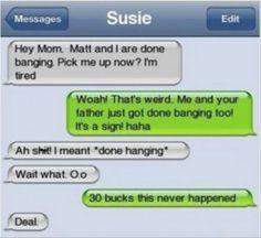 Just banged