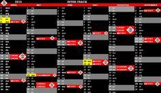 Kalender met alle belangrijke data op ;)  www.inter-track.be