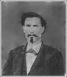 """William """"Wild Bill"""" Longley, considered one of the fastest & deadliest gunfighters in the old west. Known by some as """"Bloody Bill."""" He was from a respectable family but his hot temper, fondness for liquor, & unsettled conditions during reconstruction led him to be one of the most daring gunslingers of his day. He is said to have killed 32 persons before his capture in 1877. He was hanged in Giddings TX in 1878."""